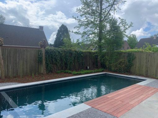 Groots ecozwembad in kleine tuin